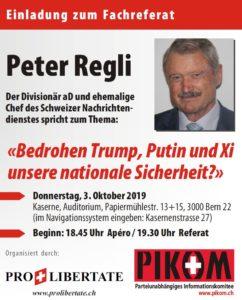 Fachreferat von Divisionär aD Peter Regli