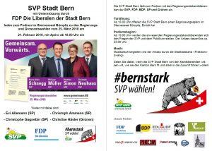 Podium zu den Berner Regierungsratswahlen